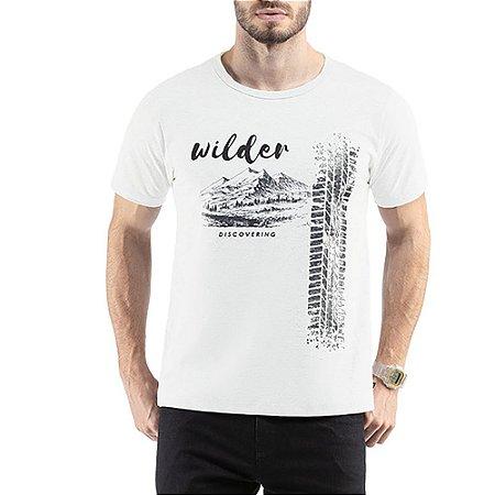 Camiseta C/ Estampa Wilder TZE Branca