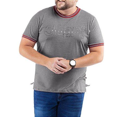 Camiseta C/ Estampa TZE Plus Cinza
