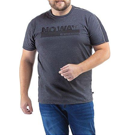 Camiseta C/ Listra e Estampa TZE Plus Azul