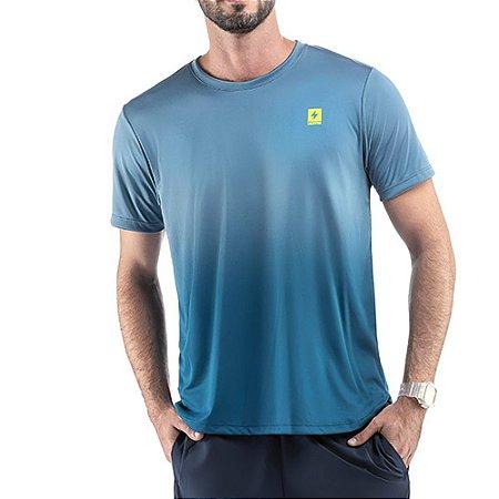 Camiseta Esportiva C/ Degradê Endorfina Azul
