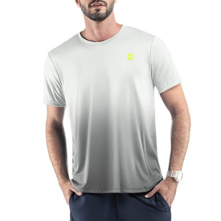 Camiseta Esportiva C/ Degradê Endorfina Branca