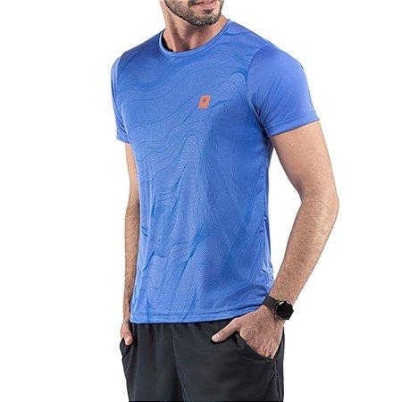 Camiseta Esportiva C/ Estampa Azul