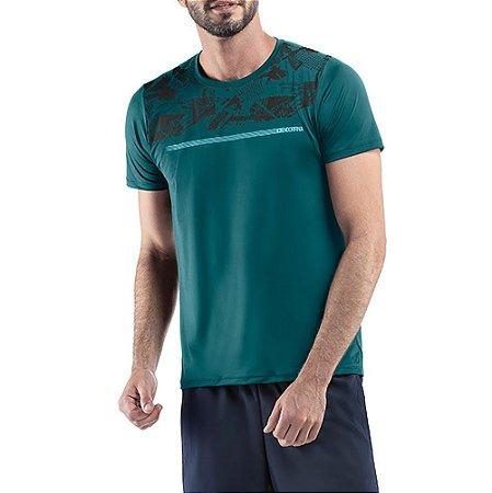 Camiseta Esportiva C/ Estampa Endorfina Azul