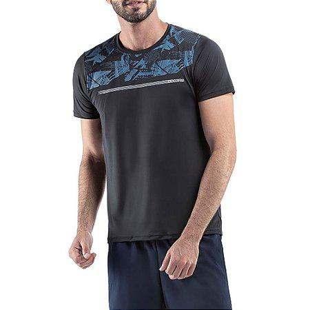 Camiseta Esportiva C/ Estampa Endorfina Preta