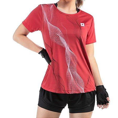Blusa Esportiva C/ Estampa Endorfina Vermelha