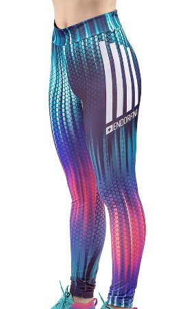Legging Esportiva C/ Estampa Endorfina Multicor