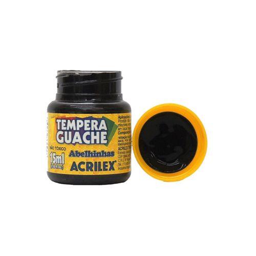 Tinta Guache Treino Micro Acrilex Pote 15ml Preto