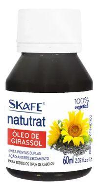 ÓLEO VEGETAL GIRASSOL 60 ML SKAFE 100% PURO E NATURAL
