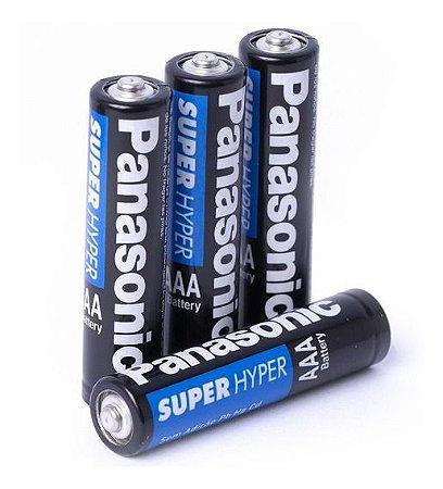 Pilha Panasonic AAA Super Hyper Comum 2 A C/ 4 Und