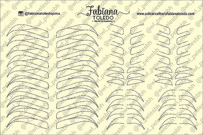 Pele Sintética Sobrancelhas Treino Frente E Verso A4 com Logo Fabiana Toledo