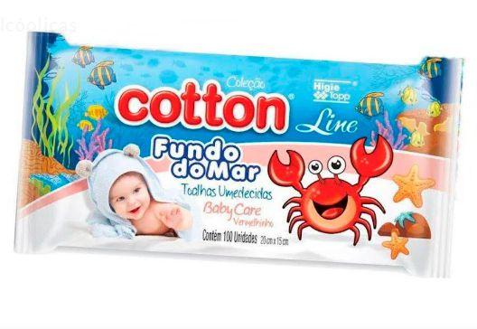 Lenço Toalha Umedecida 96Un Cotton Line Fundo Do Mar