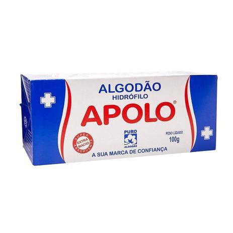 Algodão Apolo Caixinha 100g SC C/10 Unid