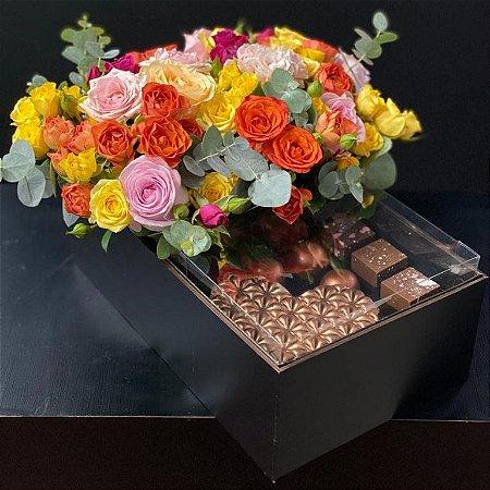 Flores & Chocolate formato Coração