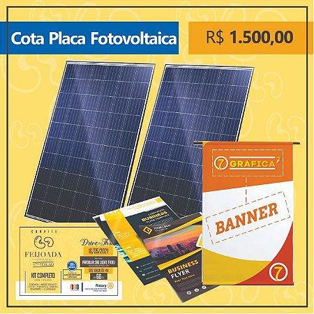 Cota de Patrocínio Placa Fotovoltaica Kit Feijoada do Palácio 2021