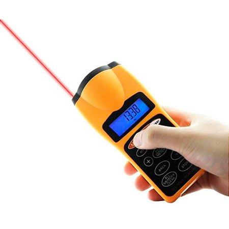 Trena Digital Com Laser Point Ultrasonic Cp-3007