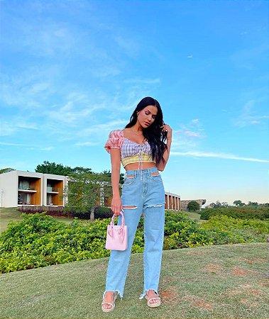 Calça jeans costumizada - cloude