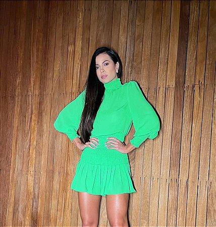 Vestido verde lastex - cloude
