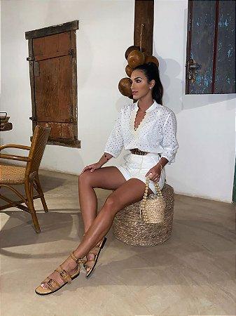 Camisa off white de lesie - aquarella