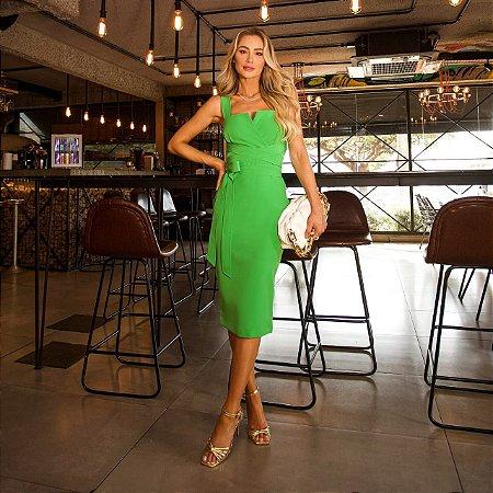 Vestido midi verde isabelly - desnude