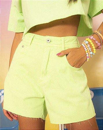 Short mom verde lima california - alcance