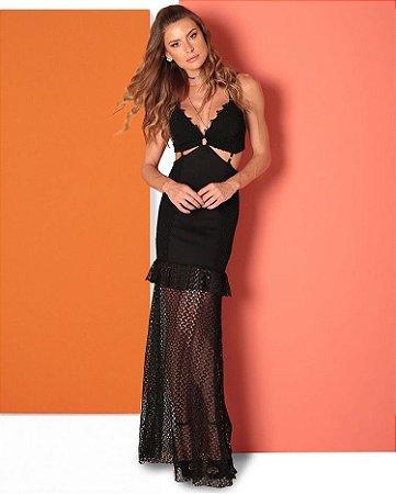 Vestido Longo Preto Juliane - LeBlog