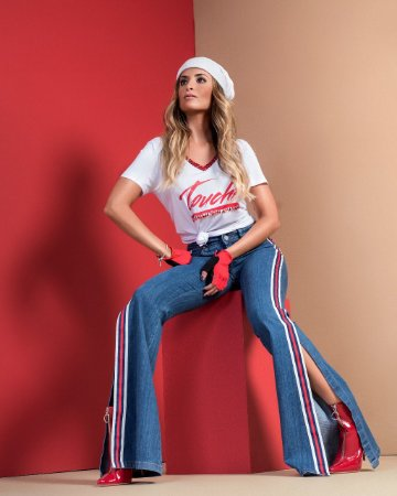 Calça Flare Jeans Isabelle - Bebela