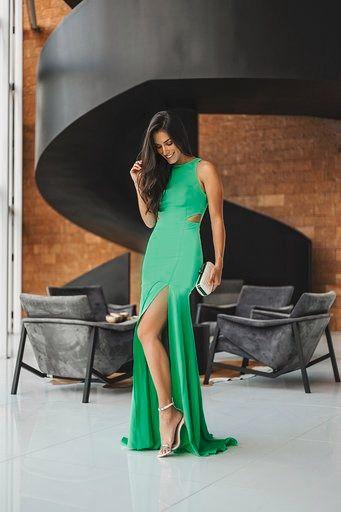 Vestido Longo Verde Cristina - Cloude