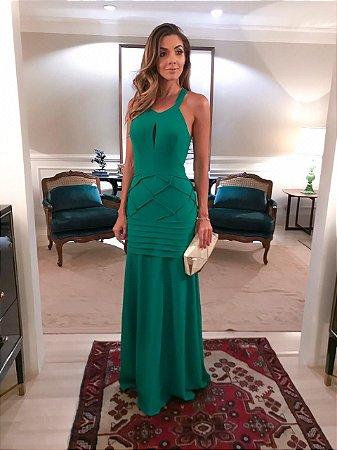 Vestido Longo Verde ana gabriela - Aquarella