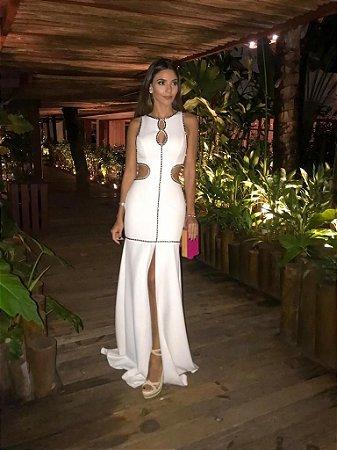 Vestido Longo Off White - Aquarella