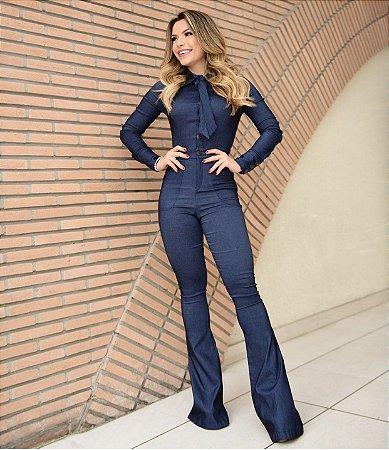 Macacão Jeans - Unicas