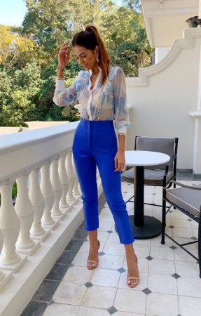 Calça Azul Royal Andressa - Cloude
