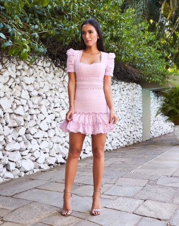 Vestido Rosa Paloma - Cloude