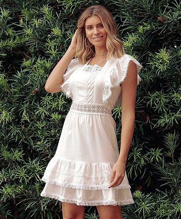 Vestido Curto Off White - Leblog