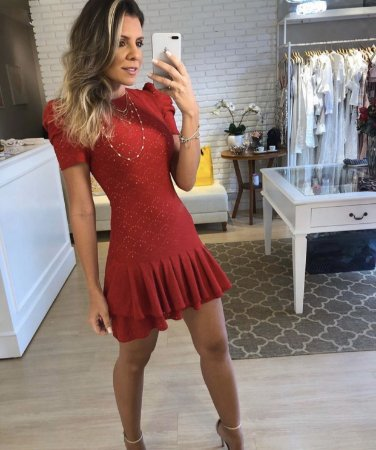 Vestido Vermelho de Lesie - Cloude