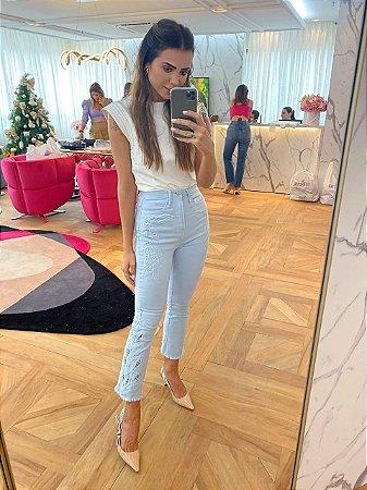 Calça Jeans Azul - Cloude