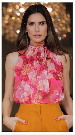 Blusa Pink Estampada - Luzia Fazzolli