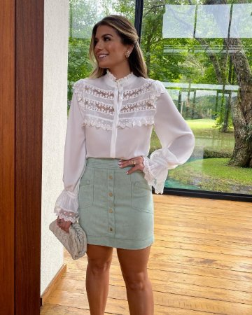 Camisa off white - cloude