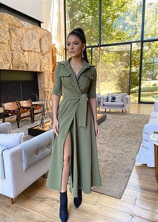 Vestido Blazer Verde Militar - Carol dias