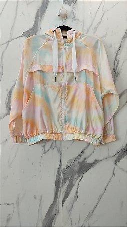 Jaqueta corta vento tie dye - cloude