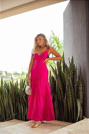 Vestido longo pink edilene