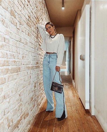 Calça Jeans Zíper clara - alcance
