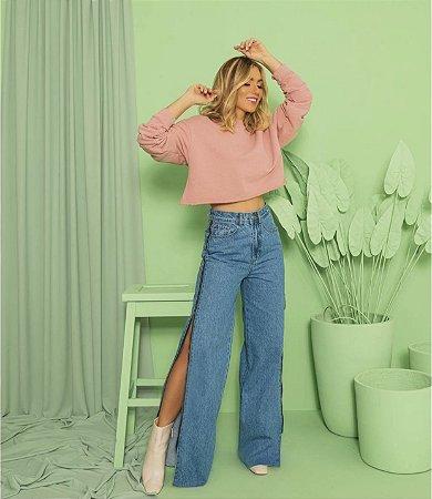 Calça Jeans Zíper escura - alcance
