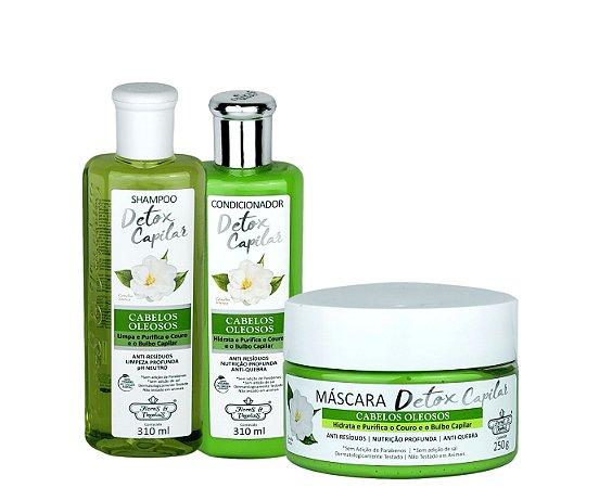Flores & Vegetais Detox Capilar Kit Completo Para Cabelos Oleosos