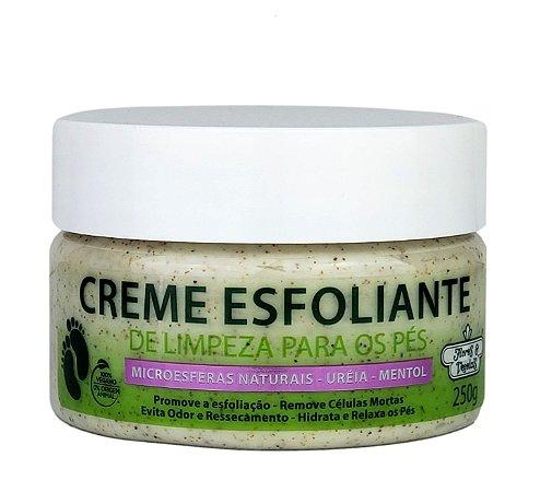 Creme Esfoliante Limpeza Para Os Pés Flores E Vegetais 250g