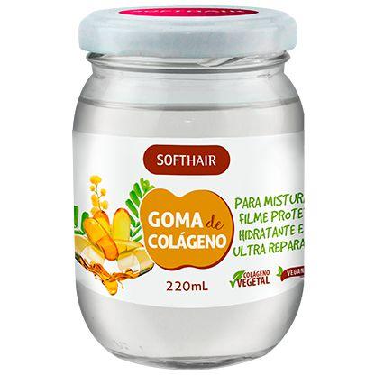 Softhair Goma De Colágeno Vegetal Hidratante Ultra Reparador 220 mL
