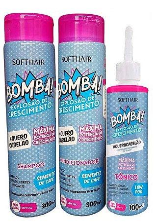 Softhair Bomba Explosão De Crescimento #Quero Cabelão 3 Passos