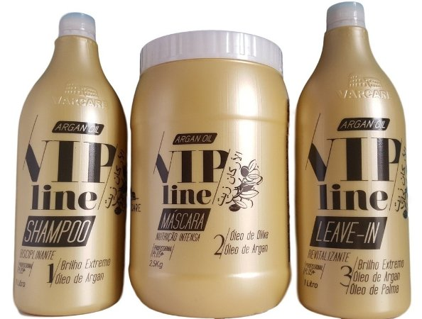 Kit Profissional Argan Oil Varcare Vip Line 3 Produtos