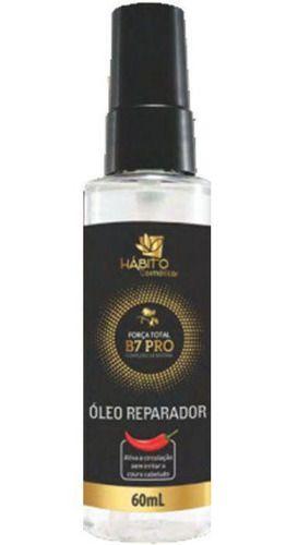 Hábito Cosméticos óleo Reparador Força Total B7 Pro Complexo De Biotina 60mL