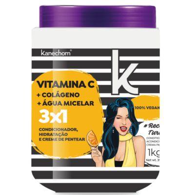 Mascara Capilar Condicionanate Vitamina C Multifuncional 3X1 Kanechom 1 Kg