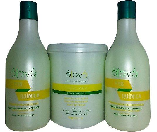 Eleve Cosmeticos -Kit  Pos Quimica Manteiga de Karité e Oleo de Bananeira Chemicals 03 Itens